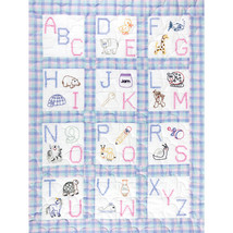 "Jack Dempsey Stamped White Nursery Quilt Blocks 9""X9"" 12/Pkg-ABC - $11.46"