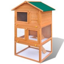 """31"""" Wooden Rabbit Hutch Small Animal Pet House Chicken Coop Poultry Cage... - $162.99"""