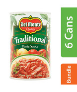 Del Monte Traditional Pasta Sauce 24 Oz Cans Pack of 6 (Exp:9/2021) - $24.30