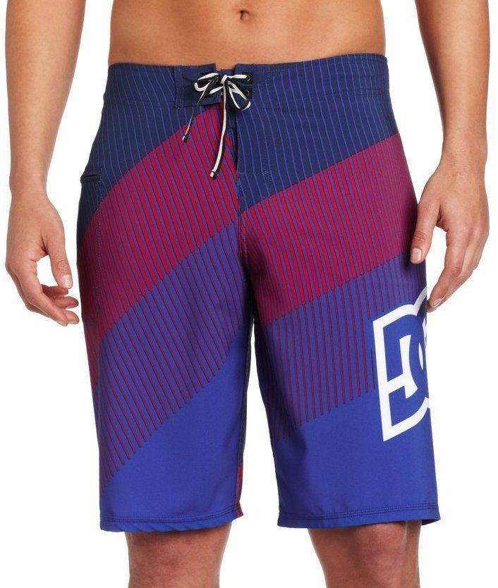 NEW DC SHOES MEN'S PREMIUM BOARD SHORTS SURF TRUNKS SWIMWEAR 4 WAY STRETCH MULTI