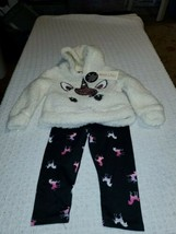 Colette Lilly Infant Girl's Size 18 month 2 Pc Hoodie Jogging Set G996A - $9.65