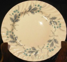 "Las Palmas 10.5"" Dinner Plate Bone China Silver Trim Made in England by ... - $49.45"