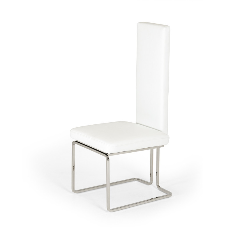 Peachy Arcadia Modern White Dining Chair Set Of And 50 Similar Items Ibusinesslaw Wood Chair Design Ideas Ibusinesslaworg