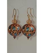 Moroccan filigree dangle earrings - $35.00