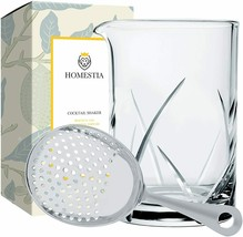 Homestia Cocktail Shaker, 24 Ounces with Stainless Steel Strainer image 1