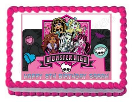 MONSTER HIGH edible cake image party cake topper frosting sheet - $7.80