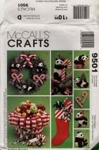 McCall's pattern 9501 UNCUT Christmas PANDA MONIUM stocking candy cane b... - $7.43