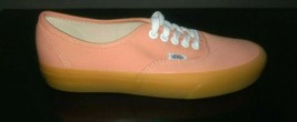 Vans Authentic Shoes Mahogony Coral Pink Gum Sole Mens 7US/ Womens 9US NIB - $39.19
