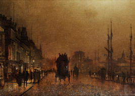 Art print POSTER /Canvas John Grimshaw The Broomielaw Glasgow - $3.95+