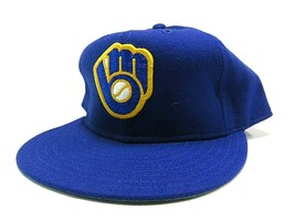 VTG 80s New Era Milwaukee Brewers MLB Baseball Fitted Hat Size 7 3/4 Mad... - $63.32