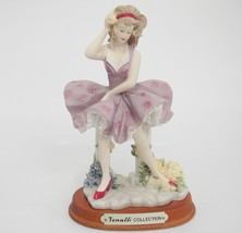 Woman Figurine Wind Blowing Hair and Purple Dress Venutti Collection on ... - $19.79