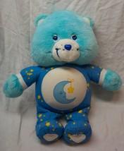 "Care Bears 2002 TALKING BEDTIME BEAR 13"" Plush Stuffed Animal Toy - $29.70"