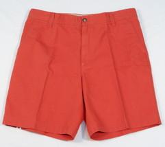Izod Saltwater Reddish Orange Flat Front Casual Shorts Mens NWT - $37.49