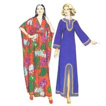 Vtg 70s Simplicity 5315 Misses Robe Caftan V-Neck Long Kimono Sleeve Sma... - $19.95