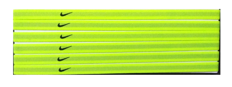 Primary image for NEW Nike Unisex Running Headband Swoosh Sport NEON GREEN BLACK Logo