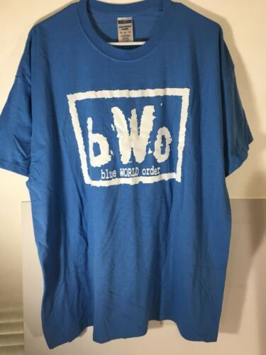 Primary image for Vintage Wrestling Shirt B.W.O. Blue World Order Jerzees Blue Meanie Sz 2 XL ECW
