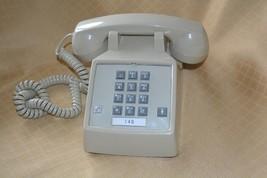 Tan Push Button Telephone rotary Phone Starplus theater prop parts beige - $12.56
