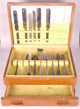 Rogers Silverplate by Oneida Chest Case-Random Silverware Flatware  - $93.49