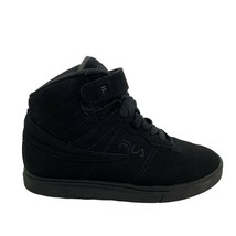 Fila 3CM00262-001 Vulc Size 13 Youth Boys Solid Black High Top Sneaker - $24.74