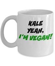 Kale Yeah I'm Vegan Mug - Cool Tea, Coffee Cup - Perfect Anniversary, Bi... - $14.80