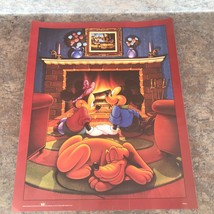 "Walt Disney Mickey & Minnie Mouse Hearth N' Hearts 16"" X 20"" Poster, Bambi Goofy - $14.83"