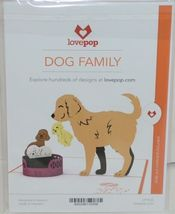 Lovepop LP1535 Dog Family Pop Up Card White Envelope Cellophane Wrapped image 6