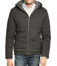 NEW MENS POLO RALPH LAUREN QUILTED HOODED DARK CHARCOAL JACKET XL $325 - $119.99