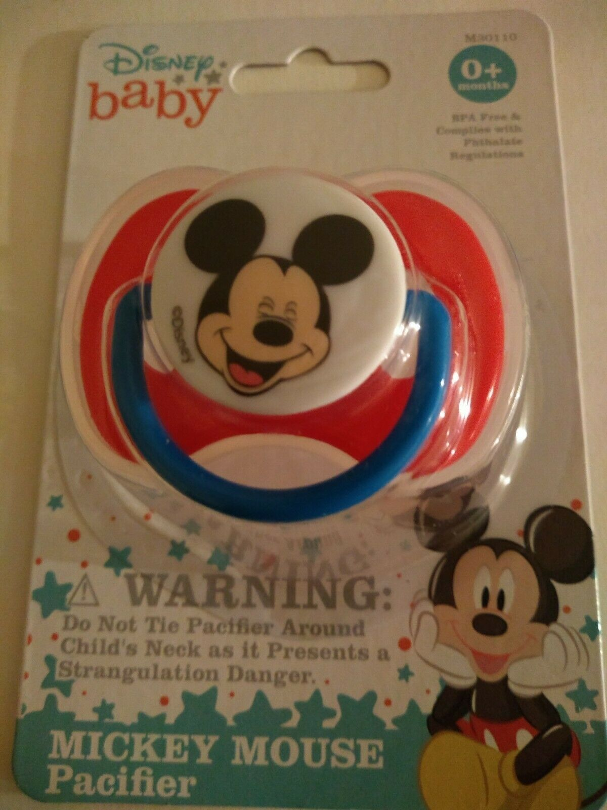 Primary image for Disney Baby MICKEY MOUSE PACIFIER With Cover For 0+ Months BPA-Free