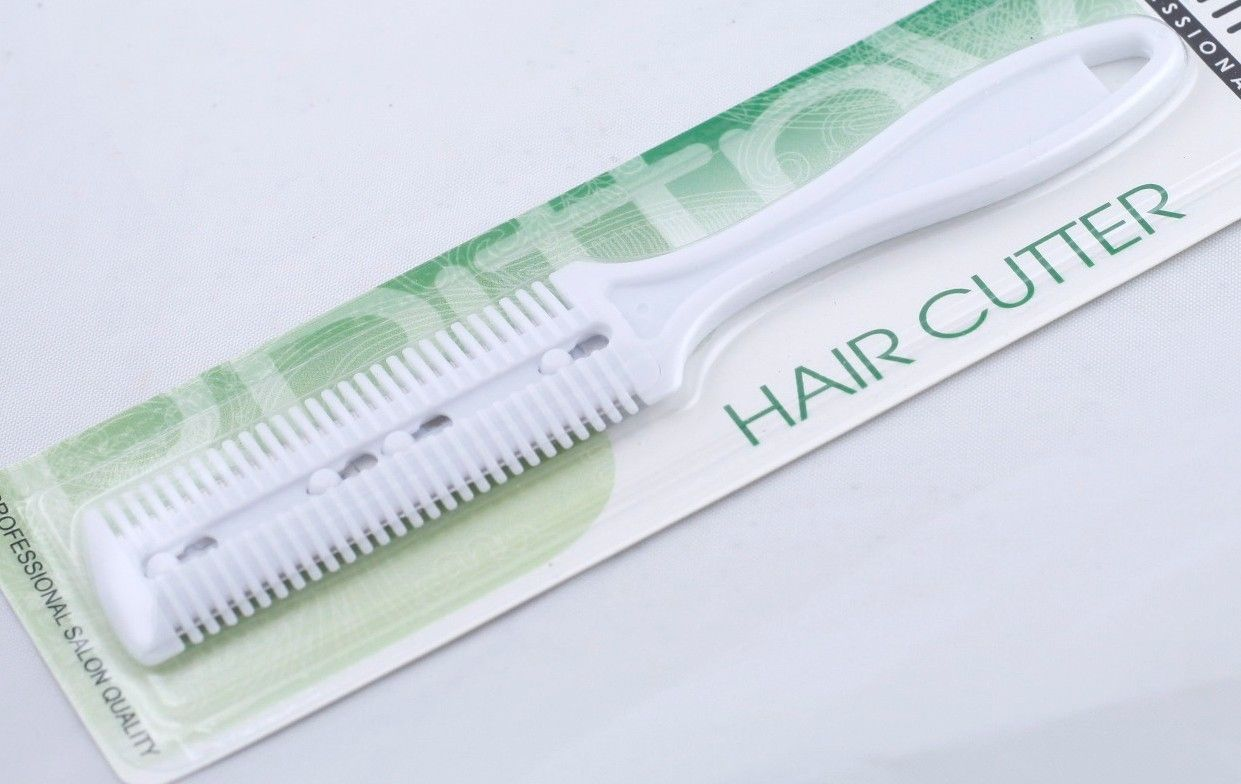 1 PIECE HAIR CUTTER CUTTING THINNING SHAPER RAZOR COMB FOR HOME OR TRAVEL