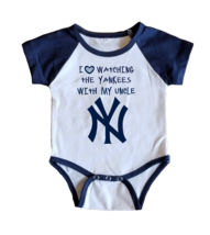NY Yankees Onesie Jersey New York Shirt Outfit Watching With My Uncle - $19.95+