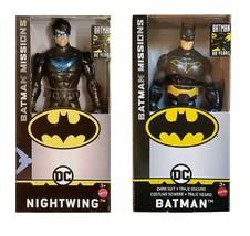 "Mattel Batman Missions 6"" Action Figures - Batman (Dark Suit) & Nightwing - $15.99"