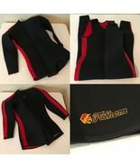 Fathom Seaflex Mens Wet Suit Size Medium Large Black Thick 2 Piece Scuba... - $89.99
