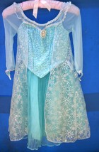 Disney Store Princess Elsa Frozen Costume size 6 with Tiara &  Frozen Music Play - $44.00