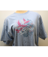 Believe Light Blue Short Sleeve Women's T-Shirt XL - $7.50