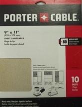 "Porter-Cable 793800810 9"" x 11"" Aluminum Oxide 80 Grit Sheet Sandpaper 10 Pack - $2.48"