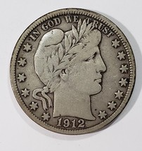 1912D Liberty Barber Head Half Dollar 50¢ Silver Coin Lot E 274
