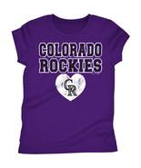 MLB Colorado Rockies Girls Short Sleeve T-Shirt Size 6/6X  7/8 14/16 NWT - $14.39