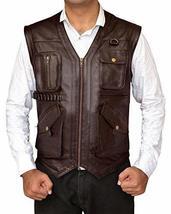 Chris Pratt Jurassic World Fallen Kingdom Owen Grady Leather Vest image 1