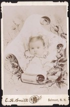 Mildred Hodgson Grant Cabinet Photo of Baby - Belmont, New Hampshire - $17.50