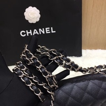 AUTHENTIC NEW CHANEL BLACK CAVIAR QUILTED JUMBO DOUBLE FLAP BAG SILVER HARDWARE image 5