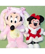 DISNEY STORE BABY Pink Easter Bunny & Mrs. Santa Claus Minnie Mouse Plus... - $23.38