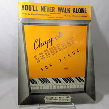 Sheet Music You'll Never Walk Alone 1949 Piano Solo Jerry Lewis US Seller - $14.99