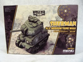 MENG ROQOVAN GAME WORLD WAR TOONS U.S. SHERMAN TANK M4A1 MODEL KIT NEW! - $24.74