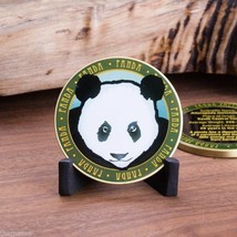 "PANDA ANIMAL WILDLIFE FACTS 1.75"" CHALLENGE COIN - $17.09"