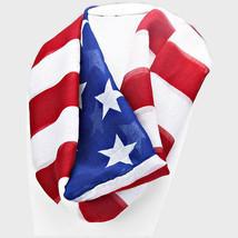 American Flag Infinity Scarf Americana Patriotic USA Pride 20 W x 70 L - €9,69 EUR