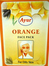 Ayur Orange Face Pack Powder 100grams For Oily Skin & Sensitive Skin - $6.00