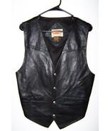 Vintage Genuine Leather Vest Paragraff Clothing Co. Men's Small - $18.99
