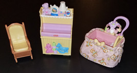 Fisher Price Loving Family Nursery Lot Crib Roc... - $14.46