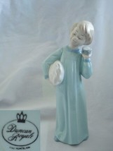 Duncan Royale Girl in Blue Nightgown Bedtime Porcelain Figurine - $18.69