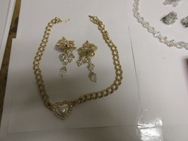 Costume Jewelry , Vintage , Necklace , Earrings , Glass , Stones , Unique - $94.05